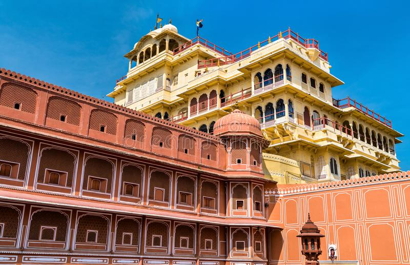Chandra Mahal przy Jaipur miasta pałac kompleksem - Rajasthan, India zdjęcie stock