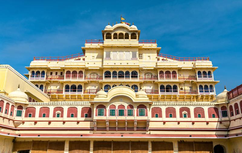 Chandra Mahal przy Jaipur miasta pałac kompleksem - Rajasthan, India fotografia stock