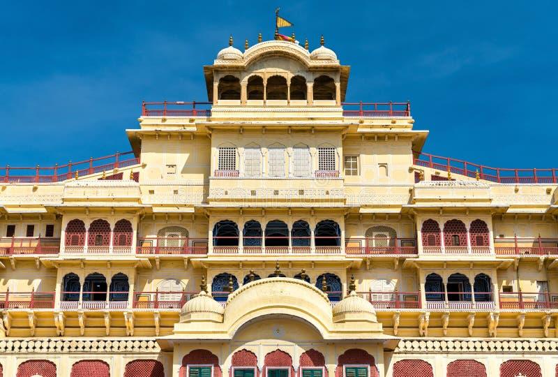 Chandra Mahal przy Jaipur miasta pałac kompleksem - Rajasthan, India fotografia royalty free