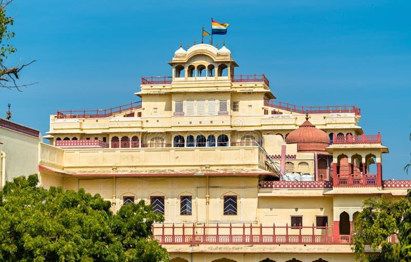 Chandra Mahal przy Jaipur miasta pałac kompleksem - Rajasthan, India obraz royalty free