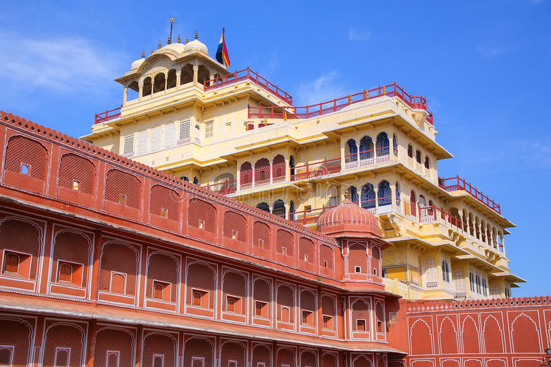 Chandra Mahal w Jaipur miasta pałac, Rajasthan, India fotografia royalty free
