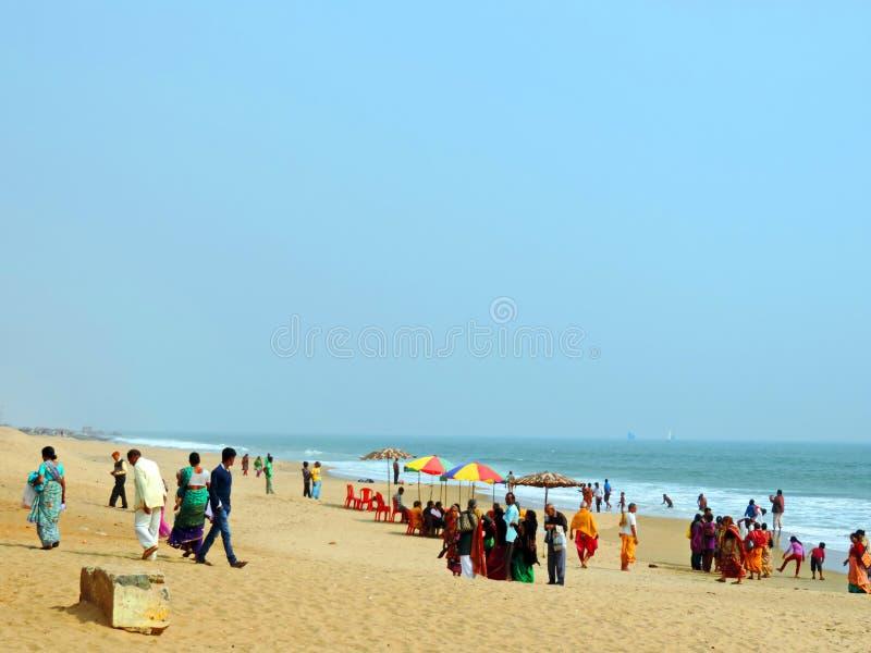 Chandrabhagastrand, Konark Odisha stock fotografie