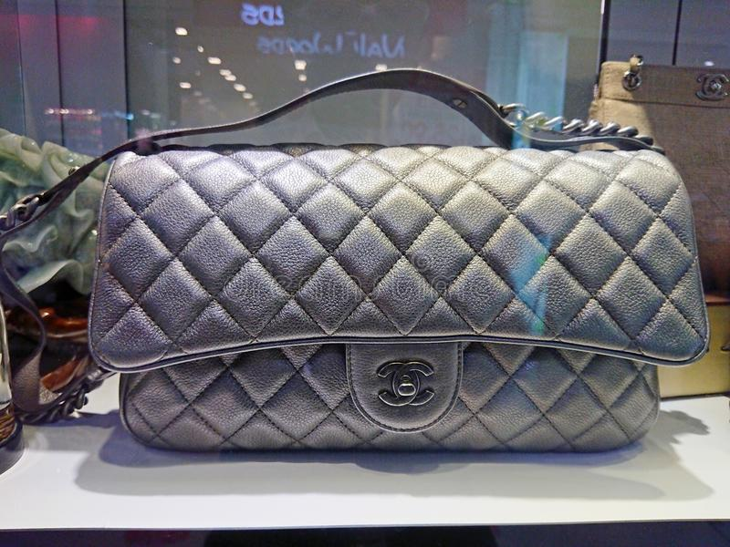 Chanel bags. On display at a pre-own reseller store in Singapore stock photos
