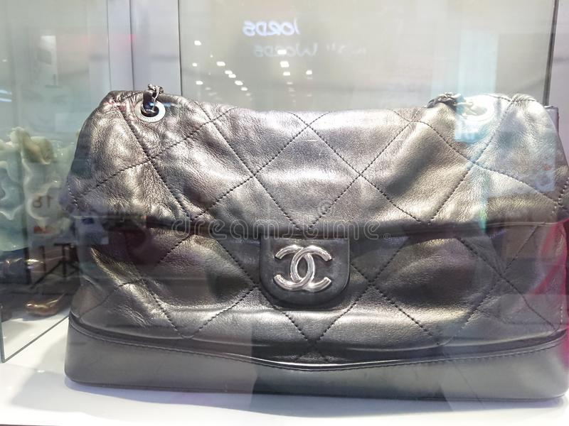 Chanel bags. On display at a pre-own reseller store in Singapore royalty free stock photography