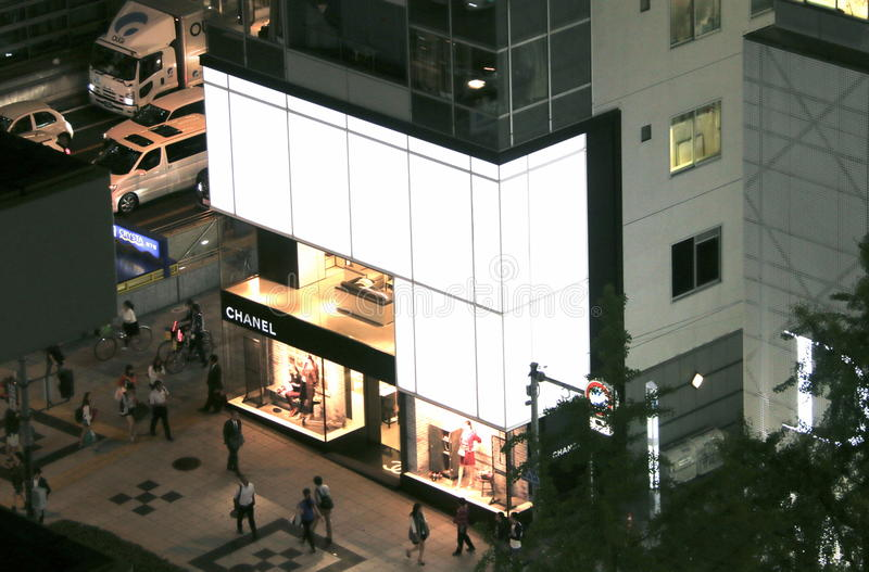 Chanel Boutique in Osaka royalty-vrije stock afbeelding
