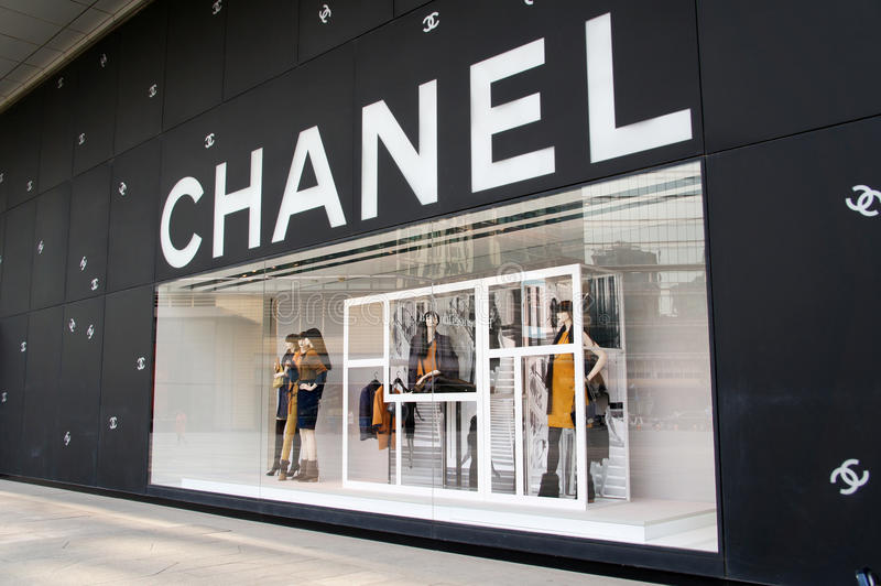 Chanel fasonuje sklep w Chiny zdjęcia royalty free