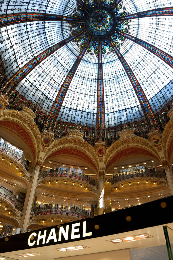 Chanel in Galerie Lafayette royalty free stock photos