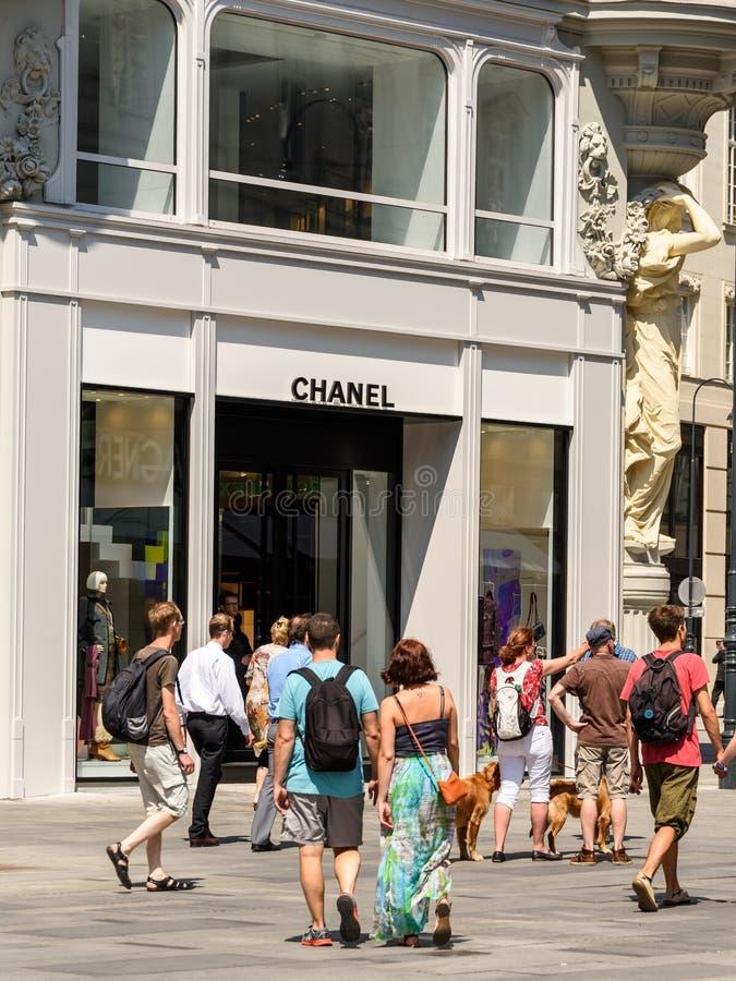 Chanel lager arkivfoto