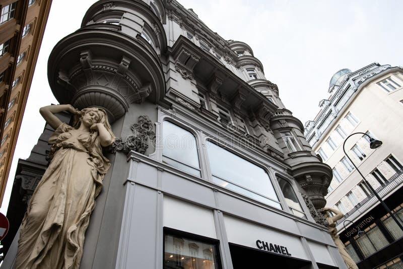Chanel lager i Wien Österrike arkivbild