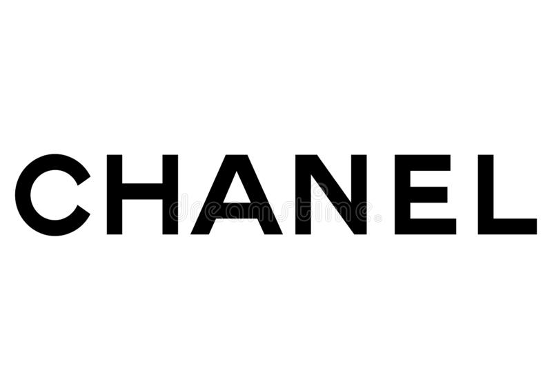 Chanel logo stock illustrationer