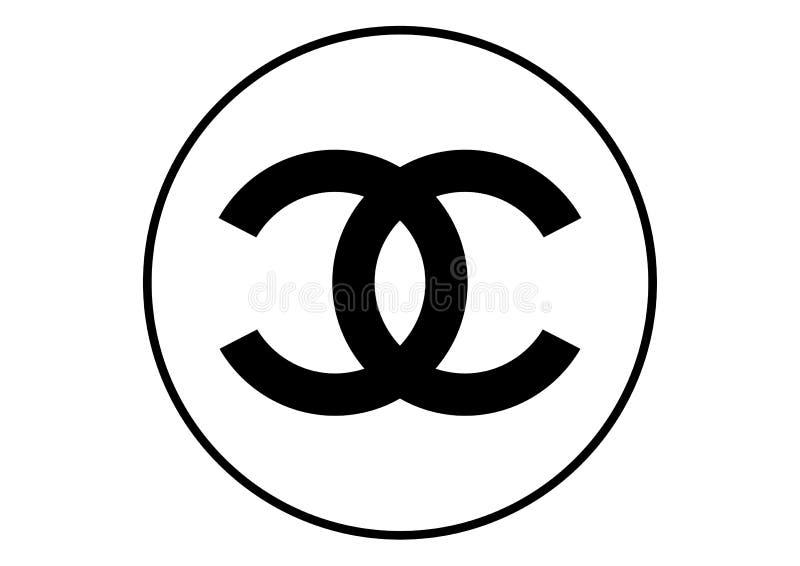 Chanel logo vektor illustrationer