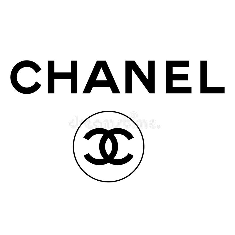 Chanel logosymbol vektor illustrationer