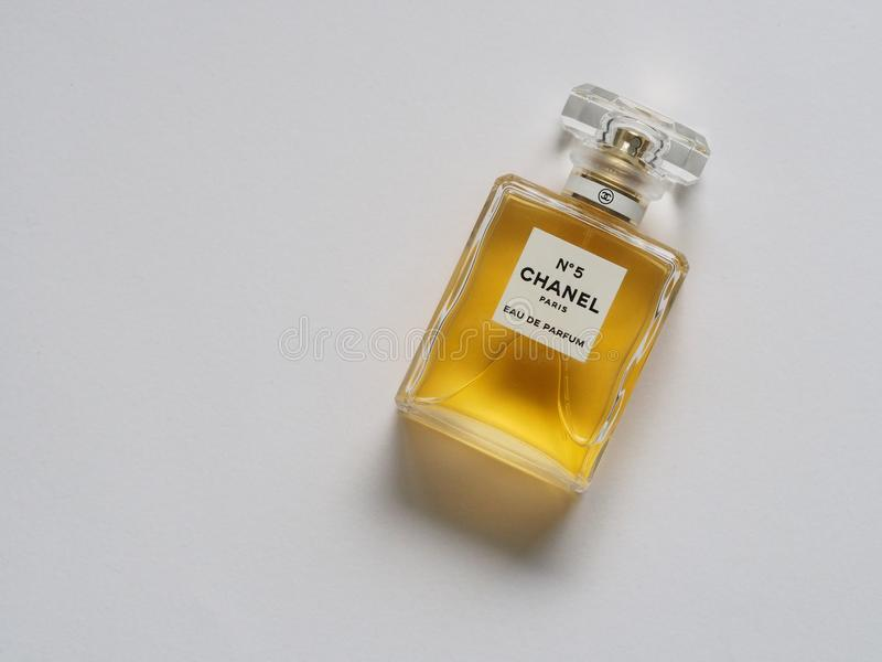 Chanel Paris Eua De Parfum Bottle stock photo