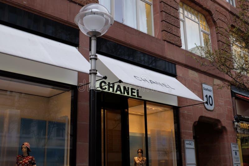 Chanel Shop Logo à Francfort image libre de droits