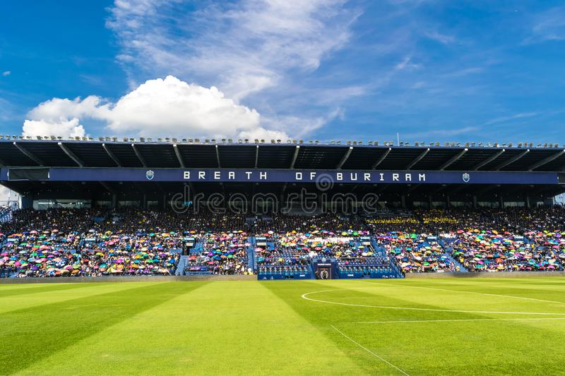 Chang Arena Standard Field Large capacity of 20000 seats Buriram East of Thailand. royalty free stock images