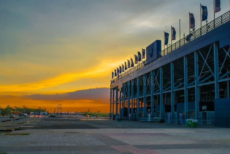 Chang Arena Standard Field Large-Kapazität von 20000 Sitzen Buriram östlich von Thailand stockbild
