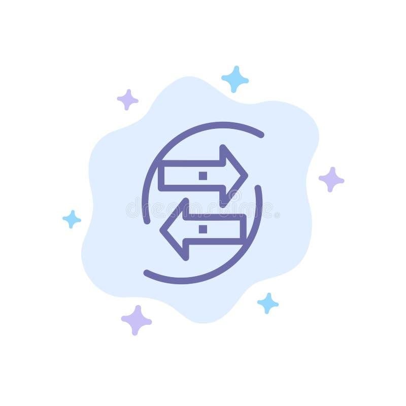 Chang, carta, datos, intercambio, dinero, icono azul de papel en fondo abstracto de la nube libre illustration