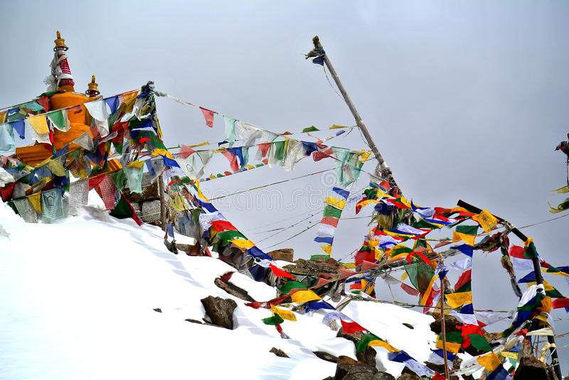Chang La Pass, the third highest driveable mountain pass in the world 5300m. Above sea level, Ladakh, J&K, India royalty free stock photos