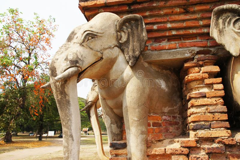 Chang Lom Temple, Sukhothai attractions, Thailand royalty free stock photography
