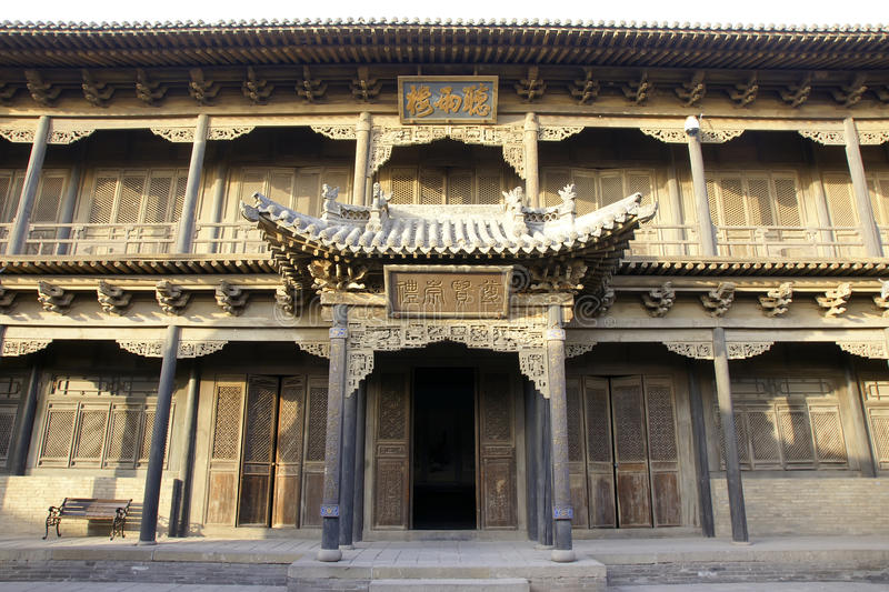 Chang Manor House. Is located in Yuci,Shanxi,China. It built in the Qing Dynasty. It is one of Chinese folk's largest manor stock image