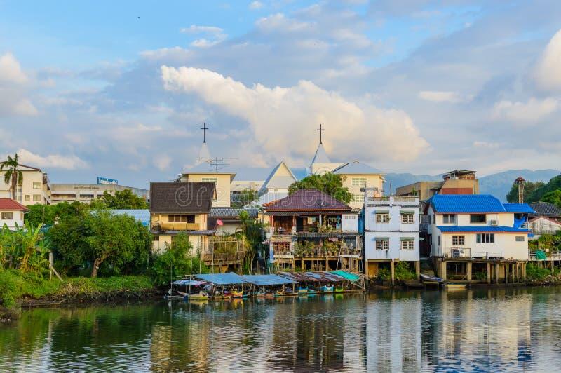 Chang miasteczko, Chanthaburi, nabrzeże, Tajlandia zdjęcia stock