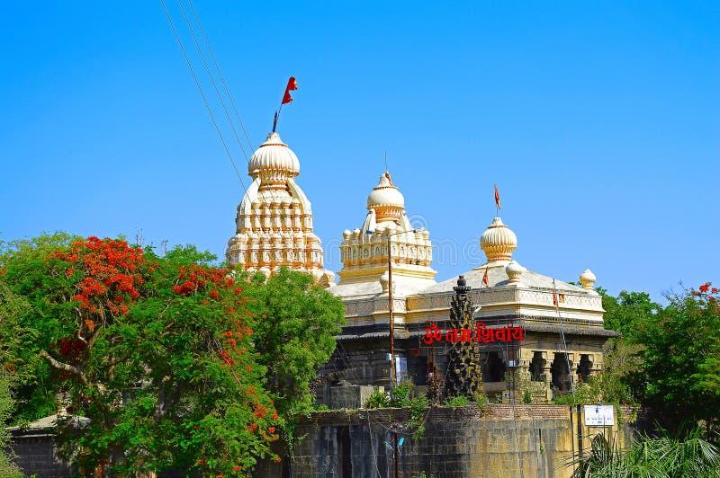 Chang Wateshwar tempel nära Saswad, Pune royaltyfria foton