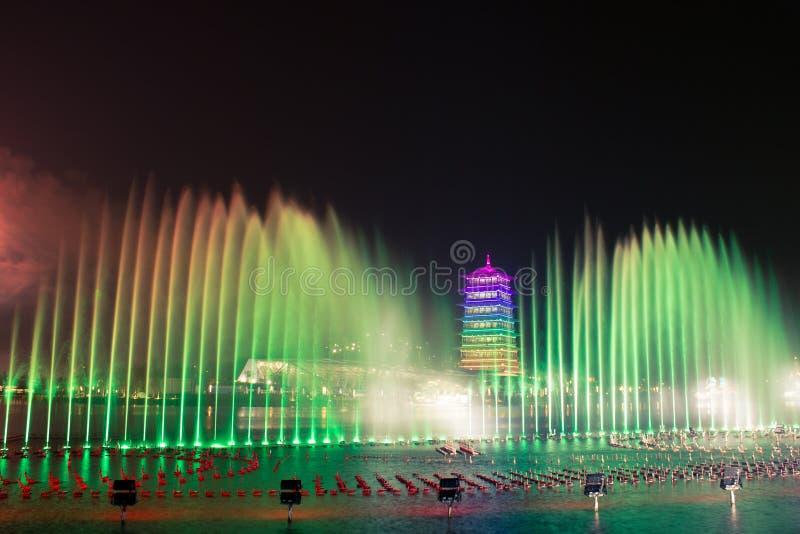 """changan πύργος Αυτό είναι ΧΙ """"μια διεθνής φυτοκομική περιοχή EXPO, changan πύργος Τουριστικό θέρετρο στοκ φωτογραφία"""