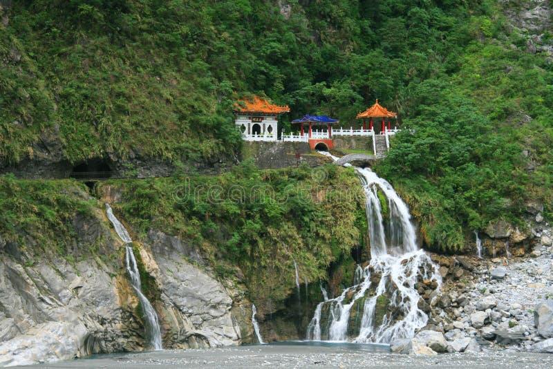 Changchun (Eternal Spring) Shrine at Taroko National Park. In Taiwan royalty free stock photo