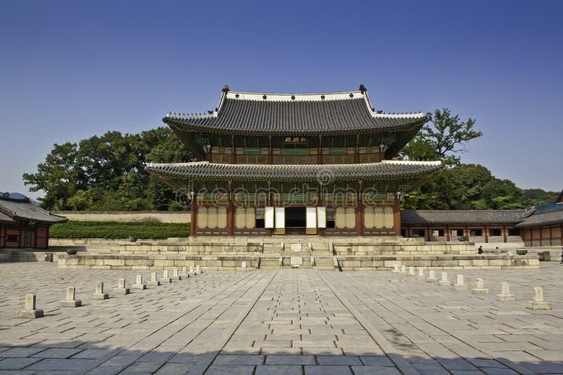 changdeok南韩国的宫殿 免版税库存图片