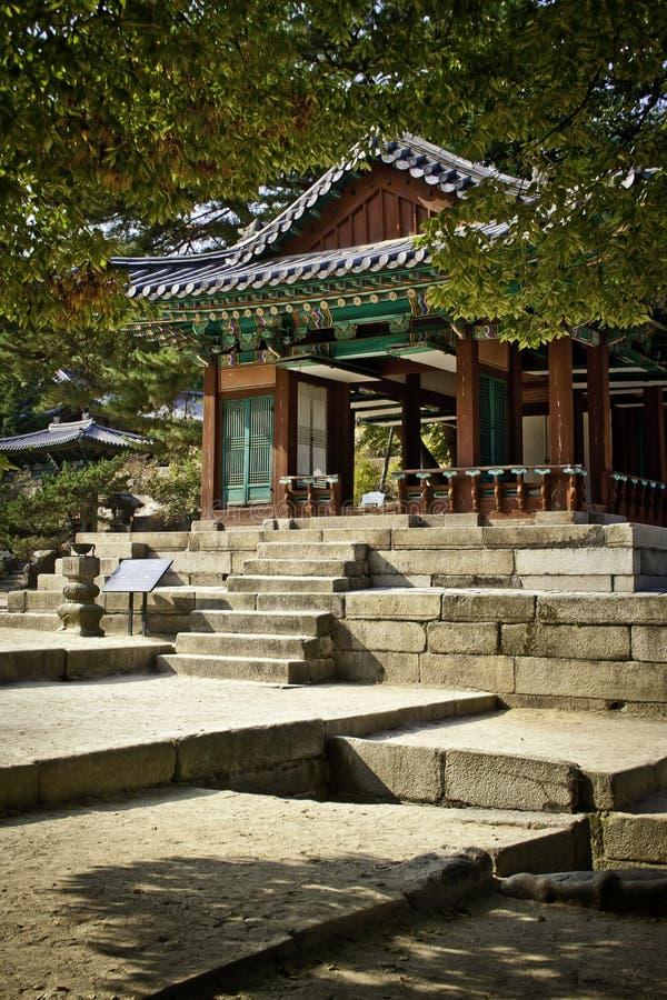 changdeok南韩国的宫殿 免版税库存照片
