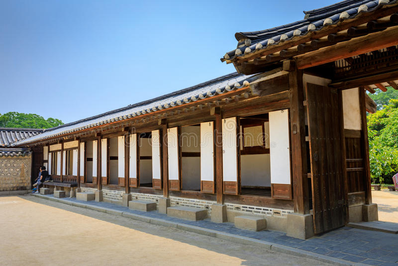Changdeok slott eller Changdeokgung på Juni 17, 2017 i Seoul, Sout royaltyfri bild