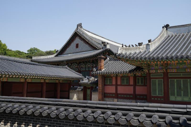 Changdeok slott, Sydkorea royaltyfri bild