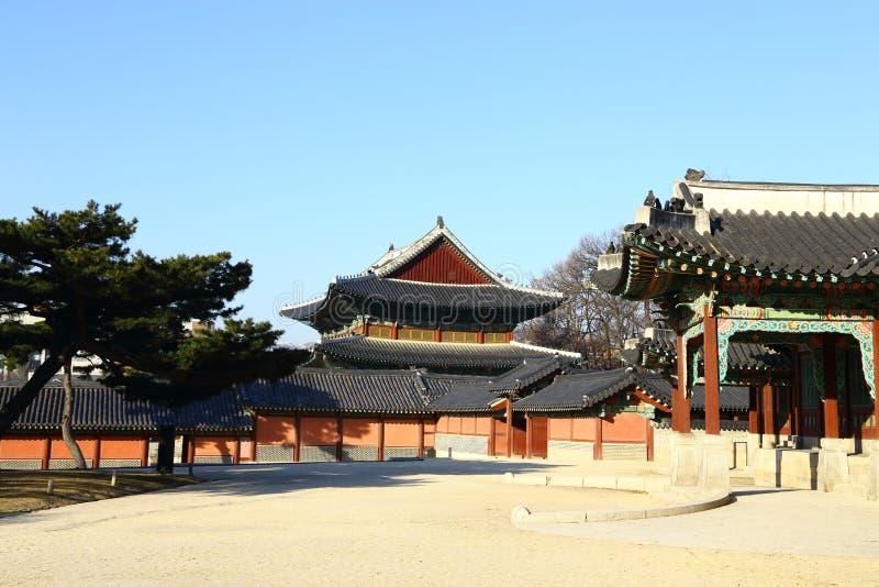 Changdeok slott, Sydkorea royaltyfria bilder