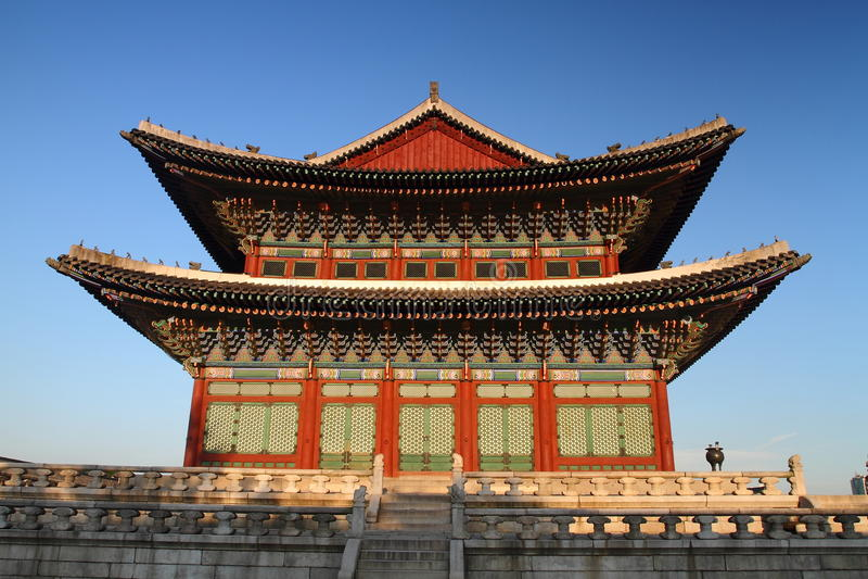 changdeokgung大厅宫殿 库存图片