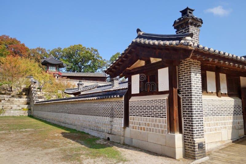 Changdeokgung pałac zdjęcia stock