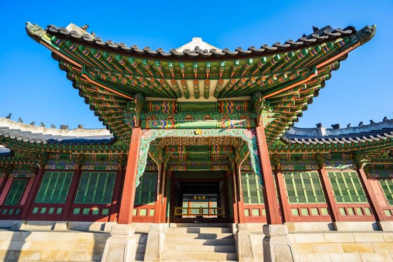 Changdeokgungpaleis in Seoel, Zuid-Korea royalty-vrije stock afbeeldingen