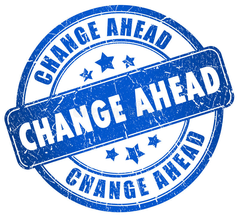 Free Change Ahead Royalty Free Stock Images - 19970839
