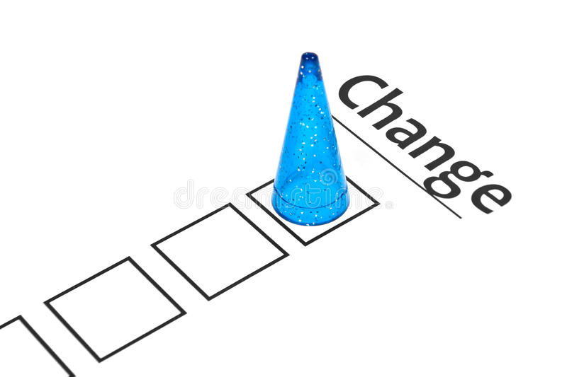 Change ahead business concept royalty free stock image
