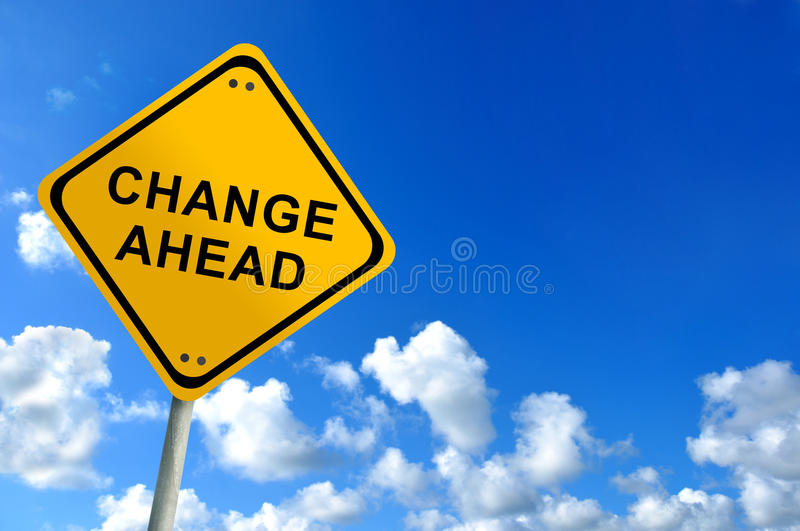 Change ahead sign royalty free stock image