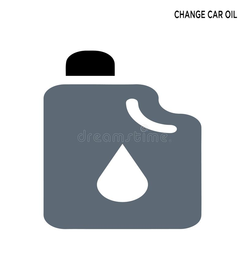 Change car oil editable symbol design. Expand to any size, Change to any color royalty free illustration