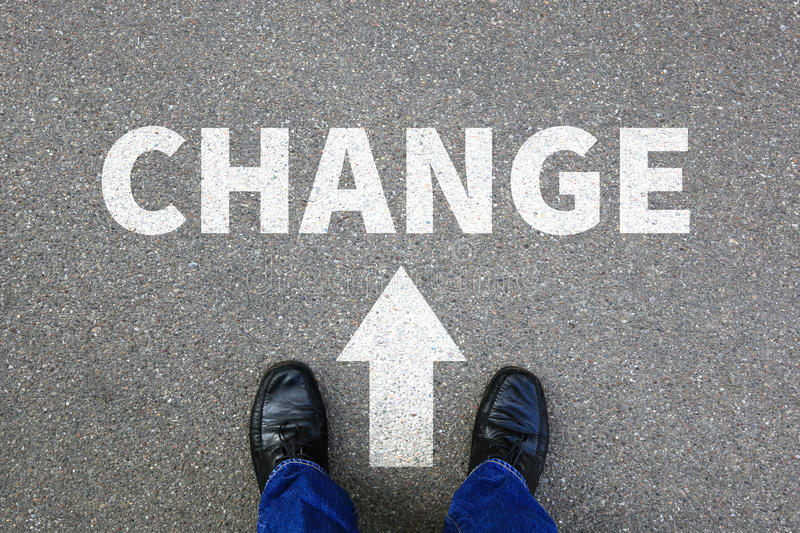 Change changing work job your life changes business concept stock image
