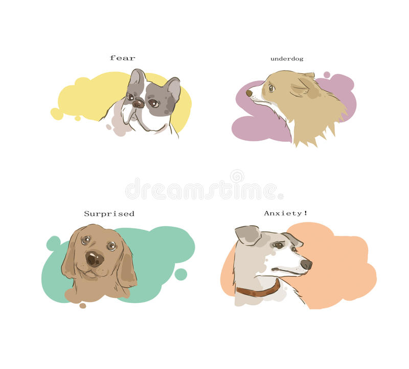 Download The Change Of Dog's Feeling Stock Illustration - Illustration of eyes, very: 29162592
