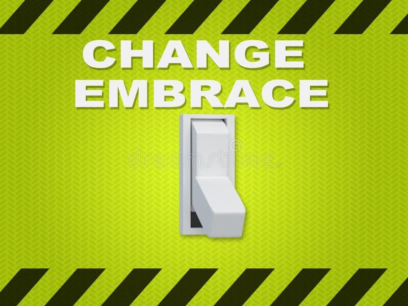 Change Embrace concept royalty free illustration