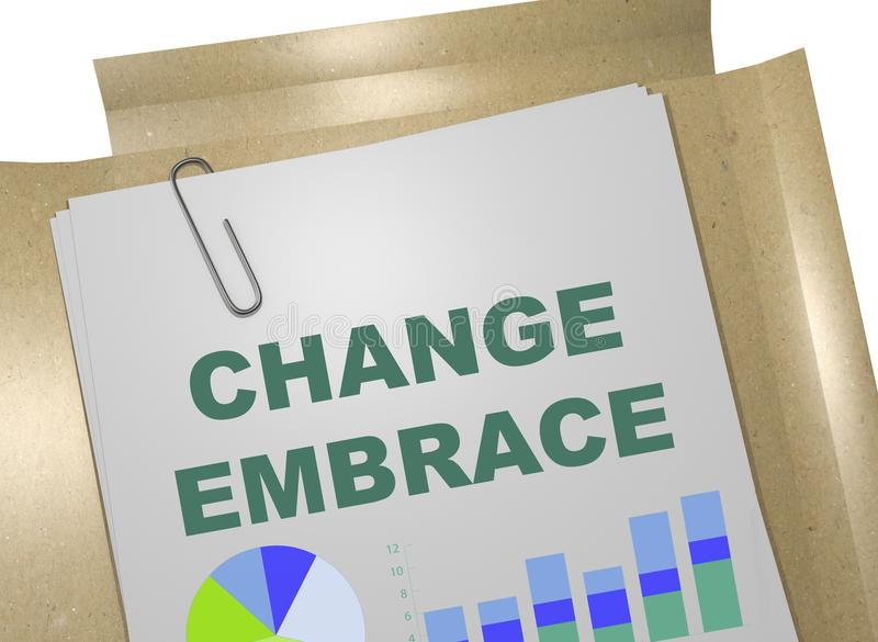 Change Embrace concept stock illustration