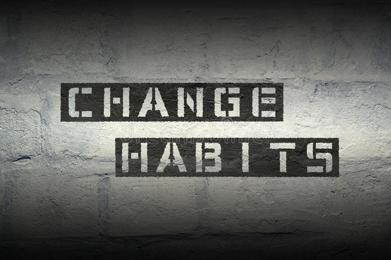 Change habits gr royalty free illustration