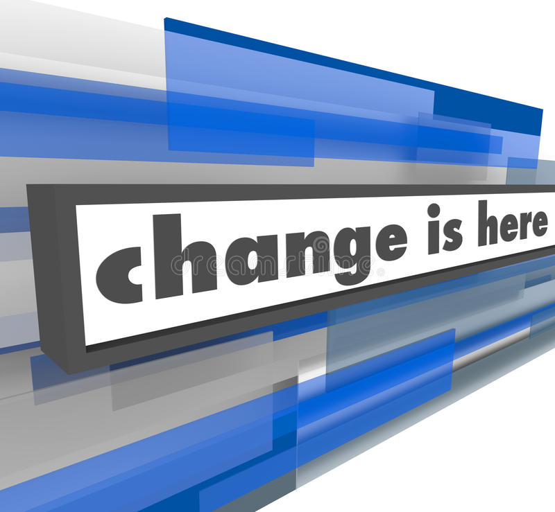Change is Here - Abstract Blue Bar royalty free illustration