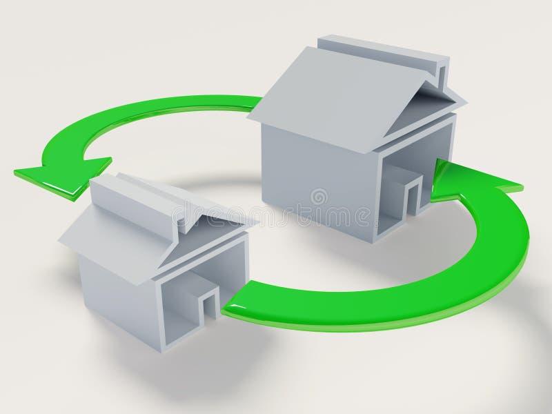 Change house vector illustration