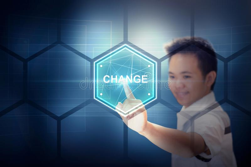 Change Life Technology Concept stock images