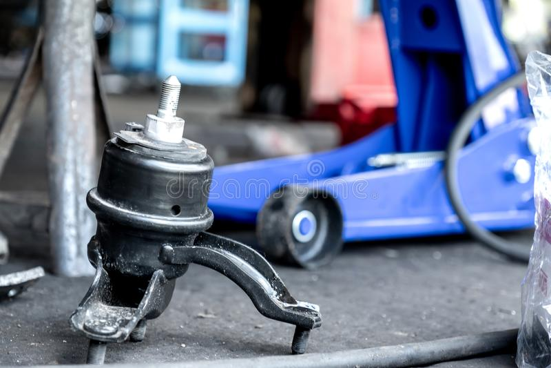 Change new engine mounts,Car maintenance. Change new a engine mounts,Car maintenance stock photography