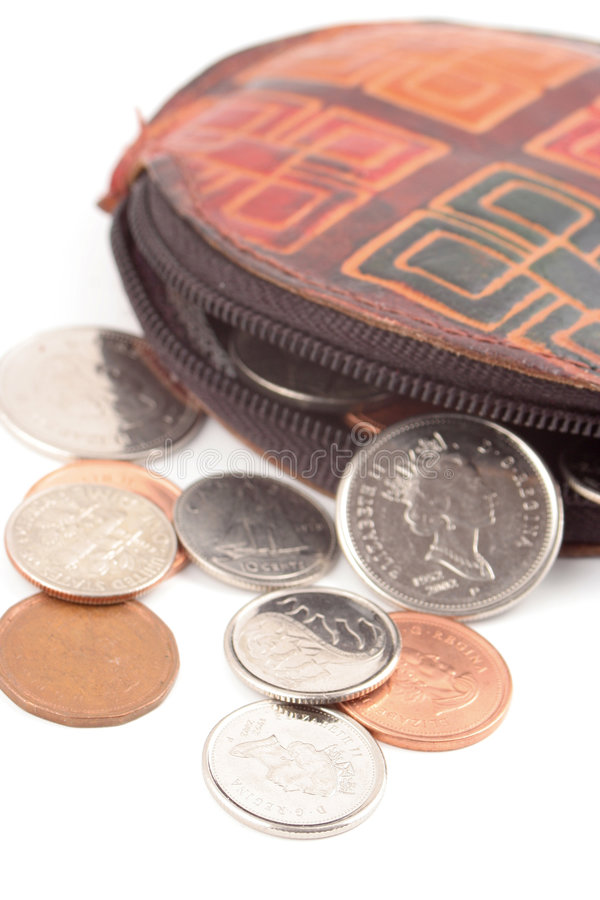 Change purse royalty free stock images